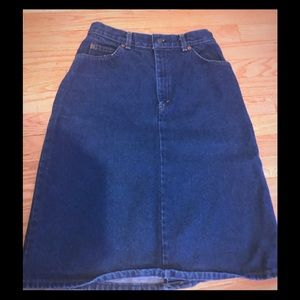 Vintage Levi's Denim (Jean) Skirt w/ White Tag